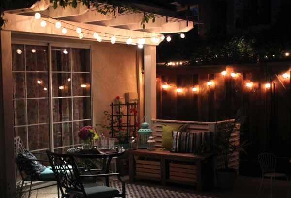 Night patio lighting