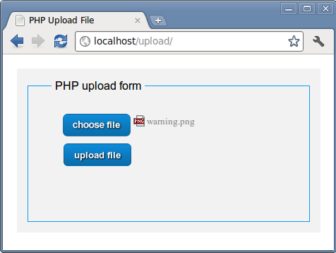 PHP Upload form