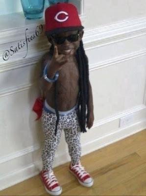 criança fantasiada de Lil Wayne