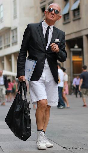 фото луки людей на улице в Милане, что носят в Милане, люди в шортах, мужчины в шортах, летние луки 2011
