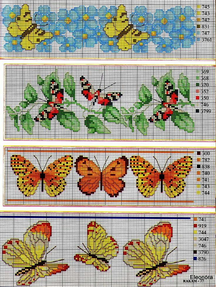 Schemi farfalle a punto croce for Schemi punto croce fiori e farfalle
