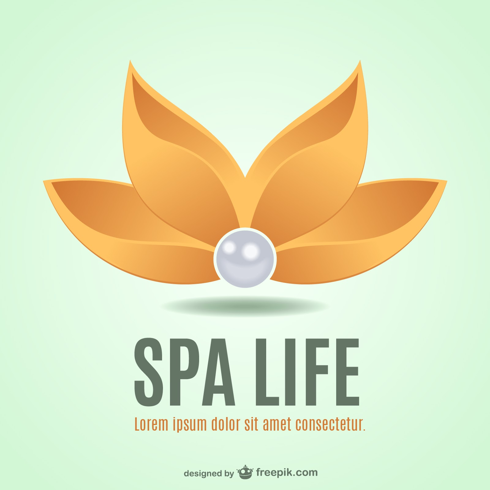 Spa Flower Logo Free Download Vector CDR, AI, EPS and PNG Formats