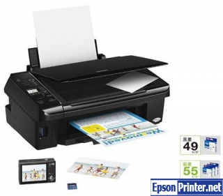 Reset Epson ME-510 printing device with software