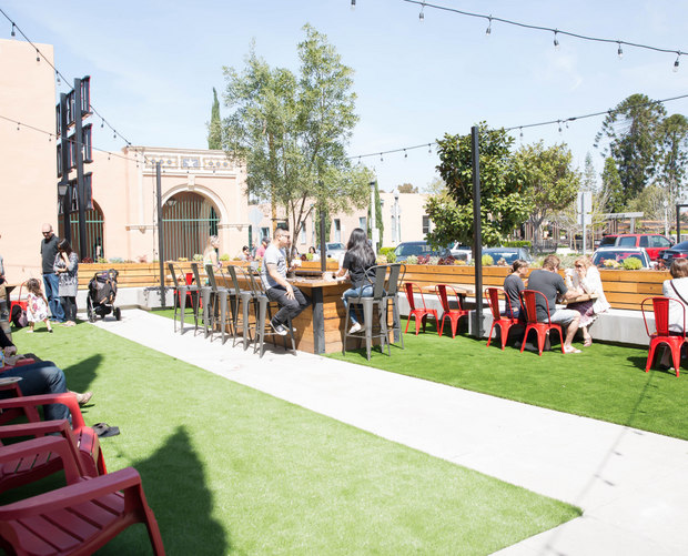 photo of the outside dining area at Liberty Public Market