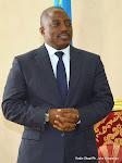 Le Président Joseph Kabila reçoit des représentants de confessions religieuses le 1/06/2015 dans son bureau officiel au palais de la nation à Kinshasa. Radio Okapi/Ph. John Bompengo