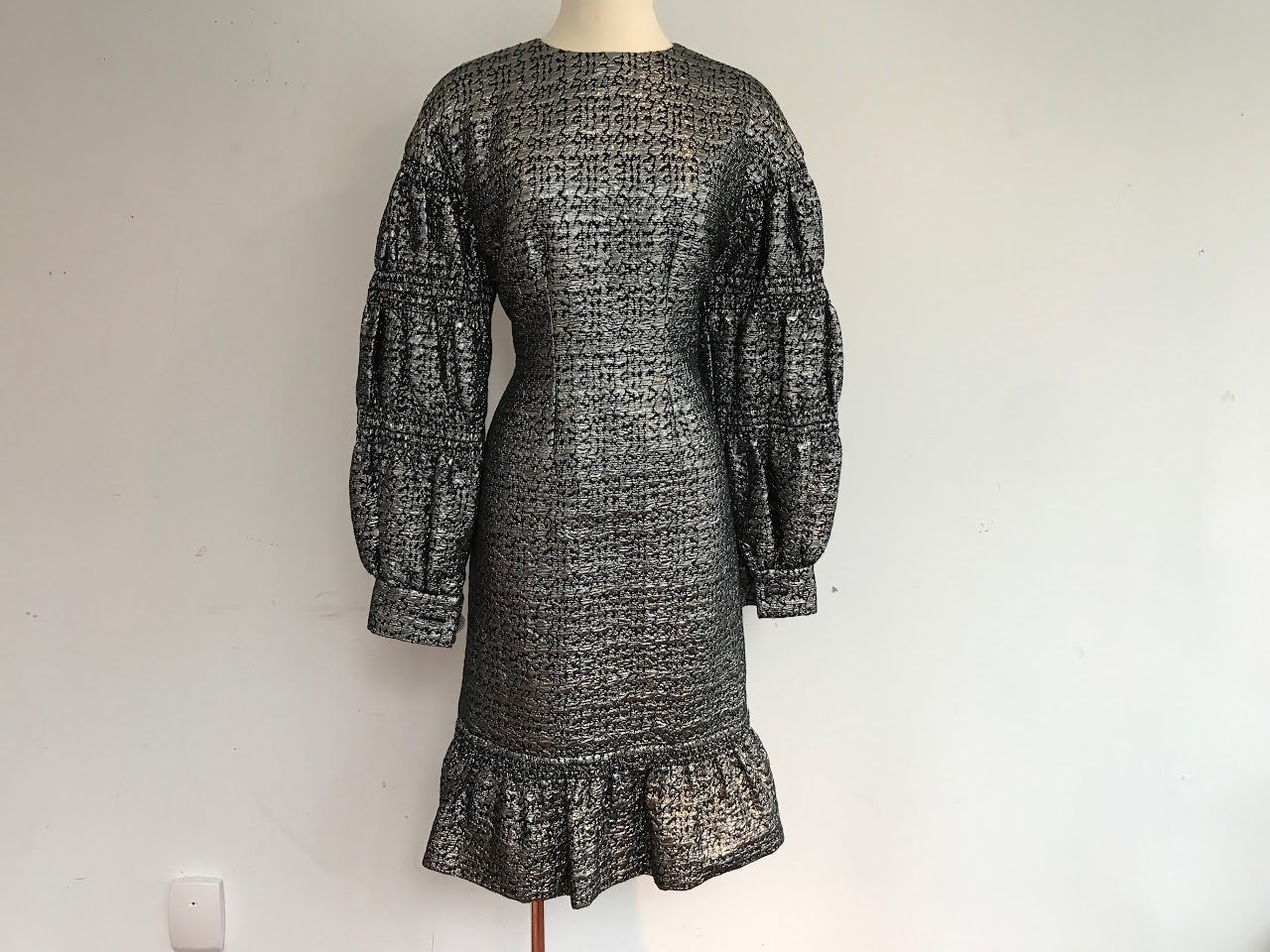 Galanos Metallic Cocktail Dress