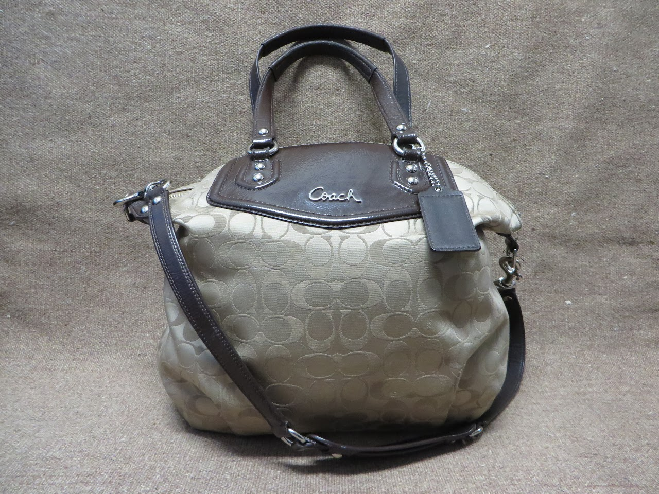 Coach Logo Print Shoulder Bag
