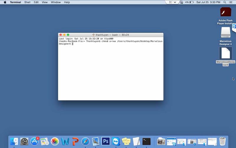 Hướng Dẫn Cài Thiết Kế 3D Marvelous Designer4 Trên Mac OS 5