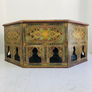 Indian Hand-Painted Low Table