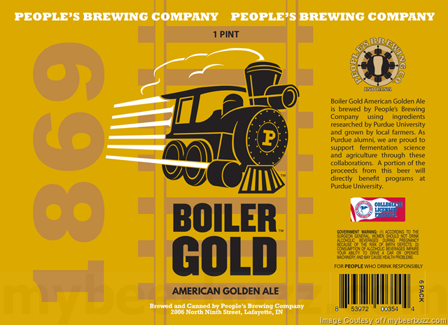 People's Brewing Collaborates With Purdue University On Boiler Gold on
