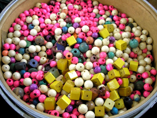 So many wooden beads!
