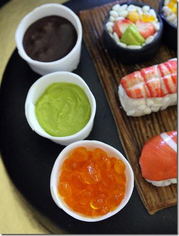 soja, wasabi och kaviar