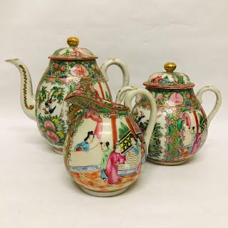 Rose Medallion Antique Tea Set