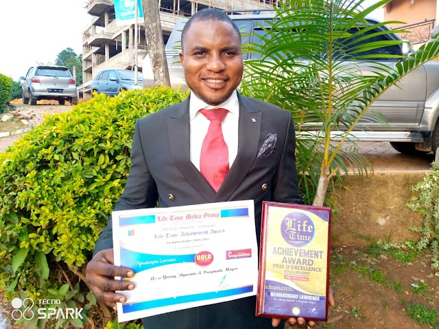 Mayor Ngwakongoh of Bafut saluted for enhancing development, Receives award