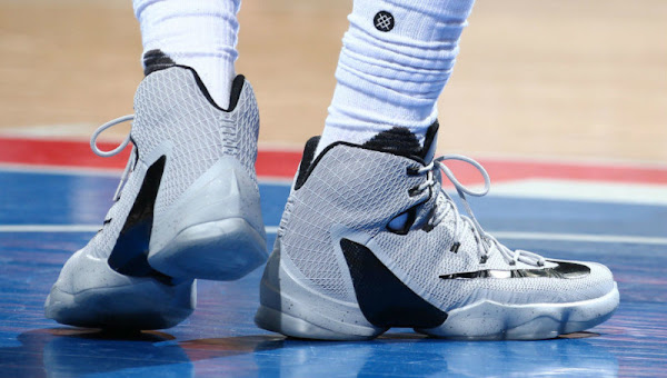James Laces Up Nike LeBron 13 Elite Grey PE as Cavs Sweep Pistons