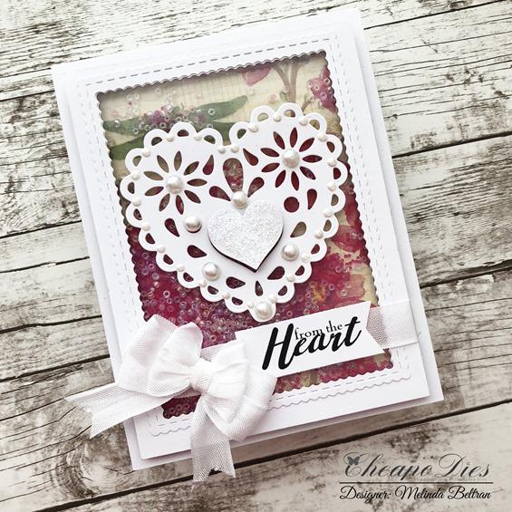heart die card