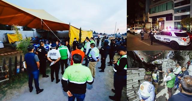 Continúa operativo para suspender reuniones y comercios por incumplir medidas en Tlaxcala