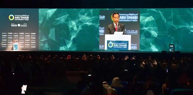 Di Abu Dhabi, Jokowi Paparkan Potensi Indonesia sebagai Pemain Utama Energi Terbarukan Dunia