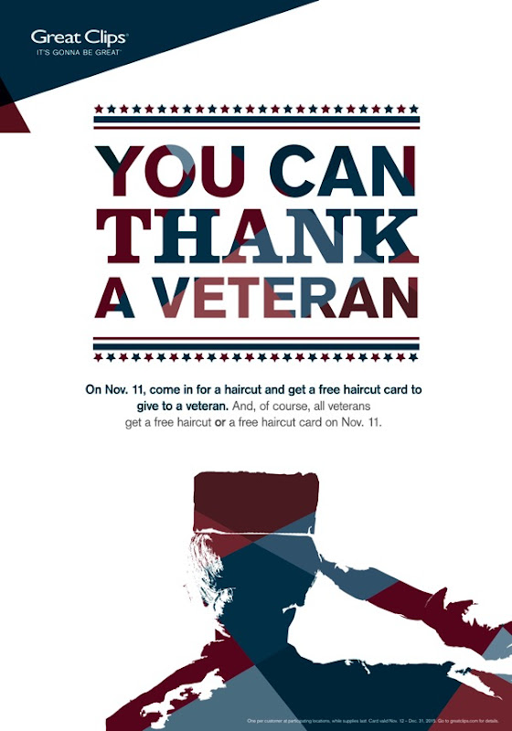 Great Clips Veterans Day Offers