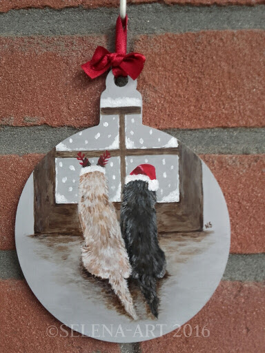 Kersthanger 2 Cairn Terriers