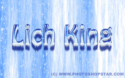 Create icy text effect from lich king computer game