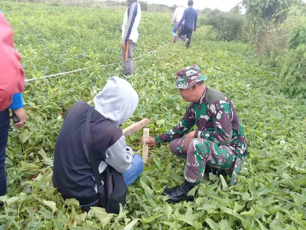 Pemasangan Patok Sasaran Program TMMD 106 Tahun 2019 di S. Kawerang Kab. Soppeng