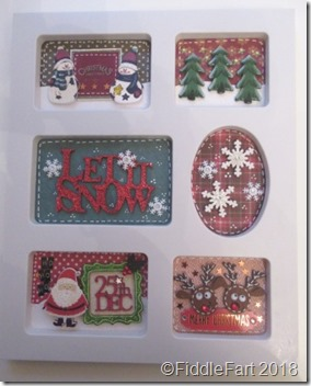 Christmas Sampler in a photoframe