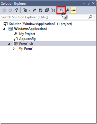 06 Code View Solution Explorer