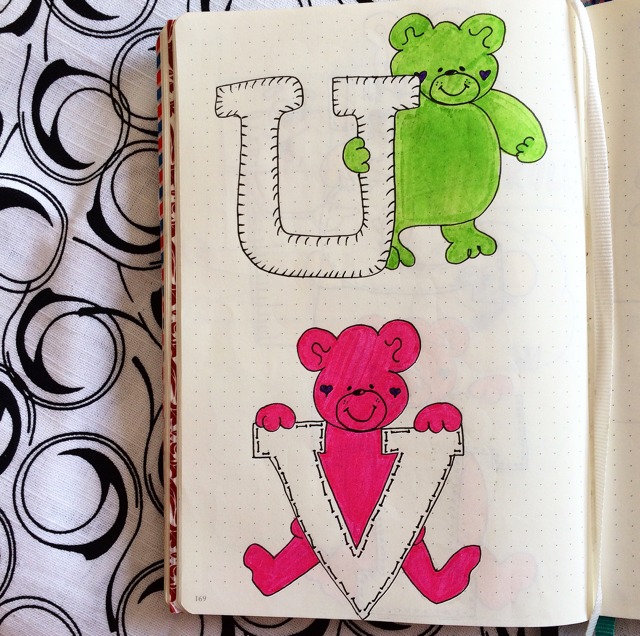 #100DaysOfDoodles | Day 61 | U & V | The 100 Day Project