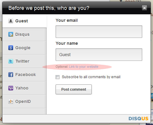 How  to Put Your Website Link in Disqus