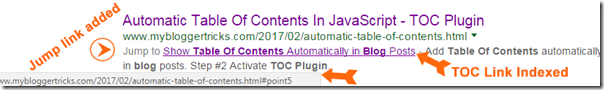 "JavaScript ""Table of Contents"" is SEO friendly"