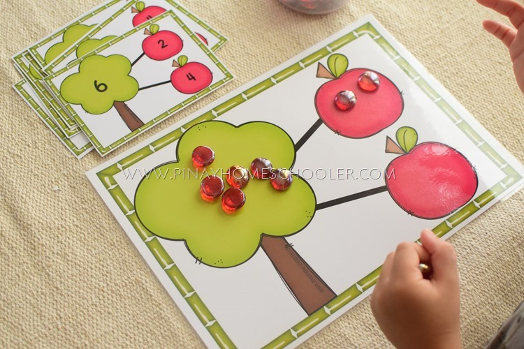 Apple Number Bonds Learning Materials