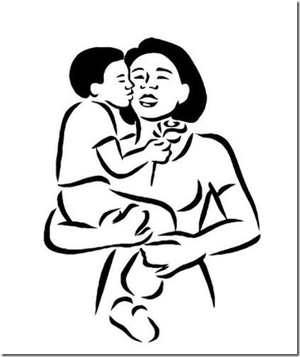 dibujos del dia de la madre para pintar y colorear
