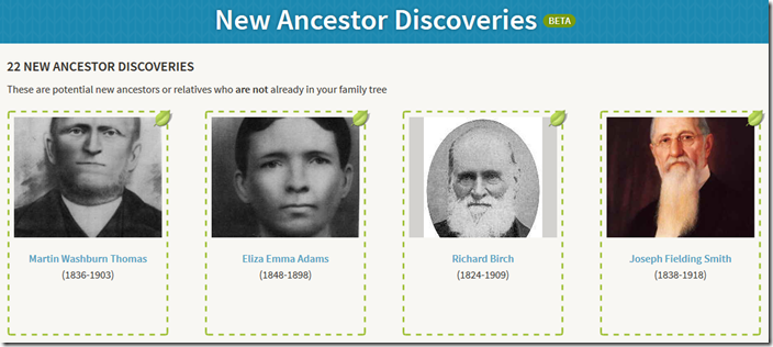 Four of the Ancestry Insider's 22 New Ancestor Discoveries