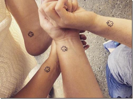 Trebol De Cuatro Hojas Tatuaje Negro Sfb