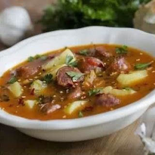 Acute Spanish Soup With Sausages