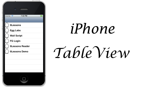 iPhone Application Table View