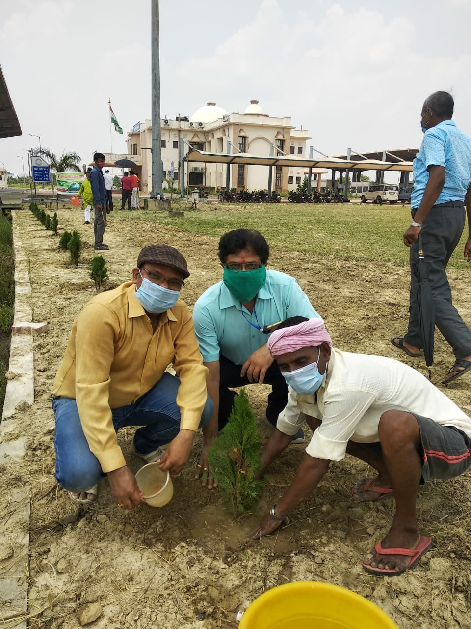 विश्व पर्यावरण दिवस पर चैम्बर ऑफ कॉमर्स एण्ड इंडस्ट्रीज ने आइसीपी के परिसर में किया वृक्षारोपण
