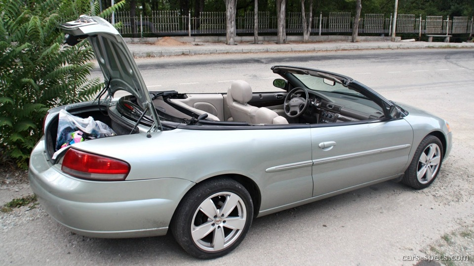 2004 chrysler sebring convertible specifications pictures. Black Bedroom Furniture Sets. Home Design Ideas