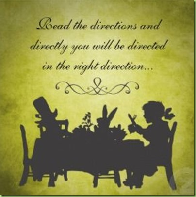 alice tea party directions