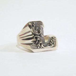 """Sterling Silver Nove25 New Initial """"L"""" Ring"""
