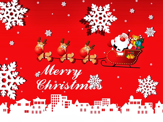 besplatne Božićne pozadine za desktop 1280x960 free download blagdani čestitke Merry Christmas Djed Mraz snježne pahuljice sobovi