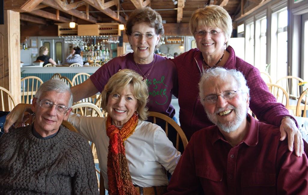 Back:  Betty Benoliel, Gloria Hanke. Front:  Jim Yount, Billye Connolly, Jim Roberts.