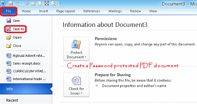 how to make a pdf document password protected