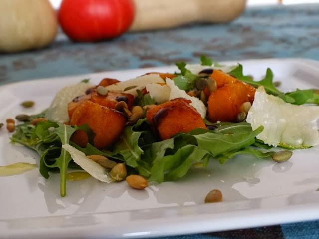 insalata con zucca