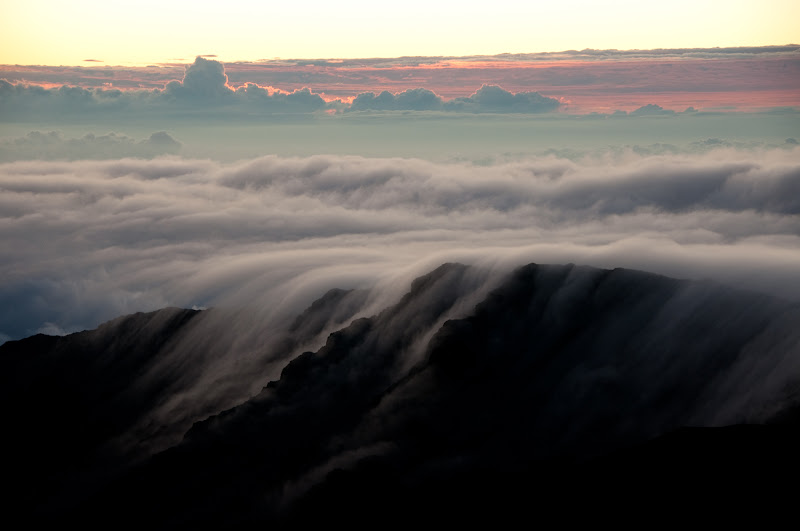 Sunrise clouds at Haleakala