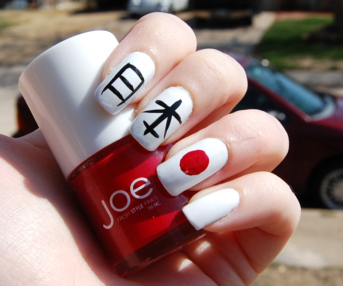 Lacquer Love: Japanese Nail Art ~ Pray for Japan!