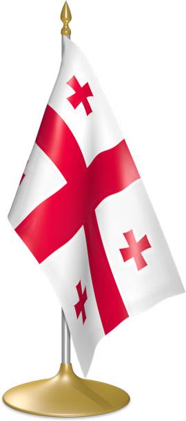 Georgian table flags - desk flags
