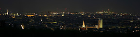 Vienna skyline at night
