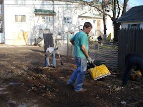 Clearing debris